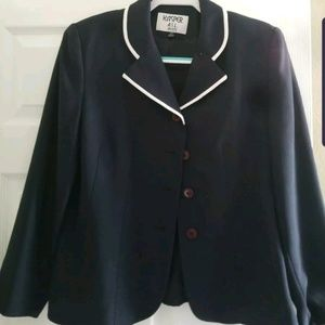 KASPER A.S.L. PETITES Navy Blue Blazer Jacket